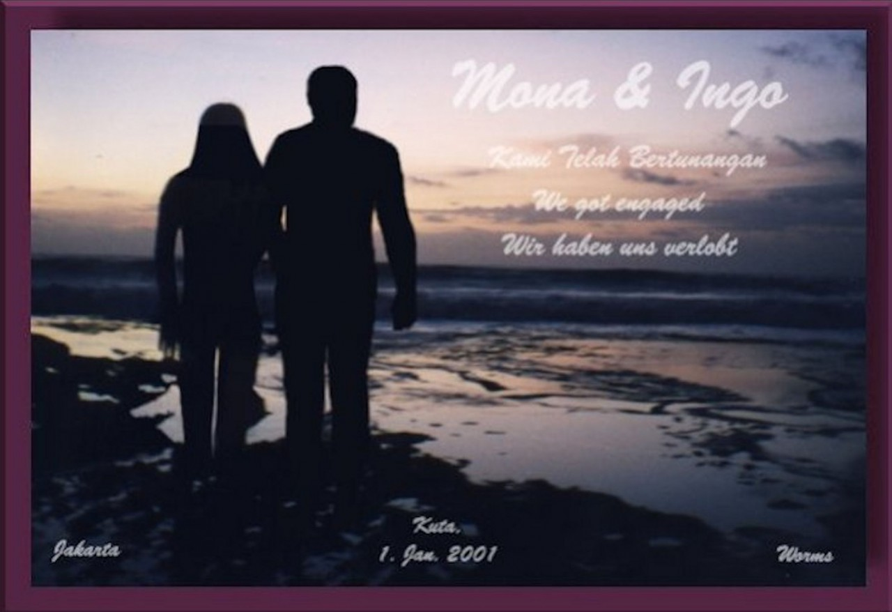 Our engagement card - Unsere Verlobungskarte