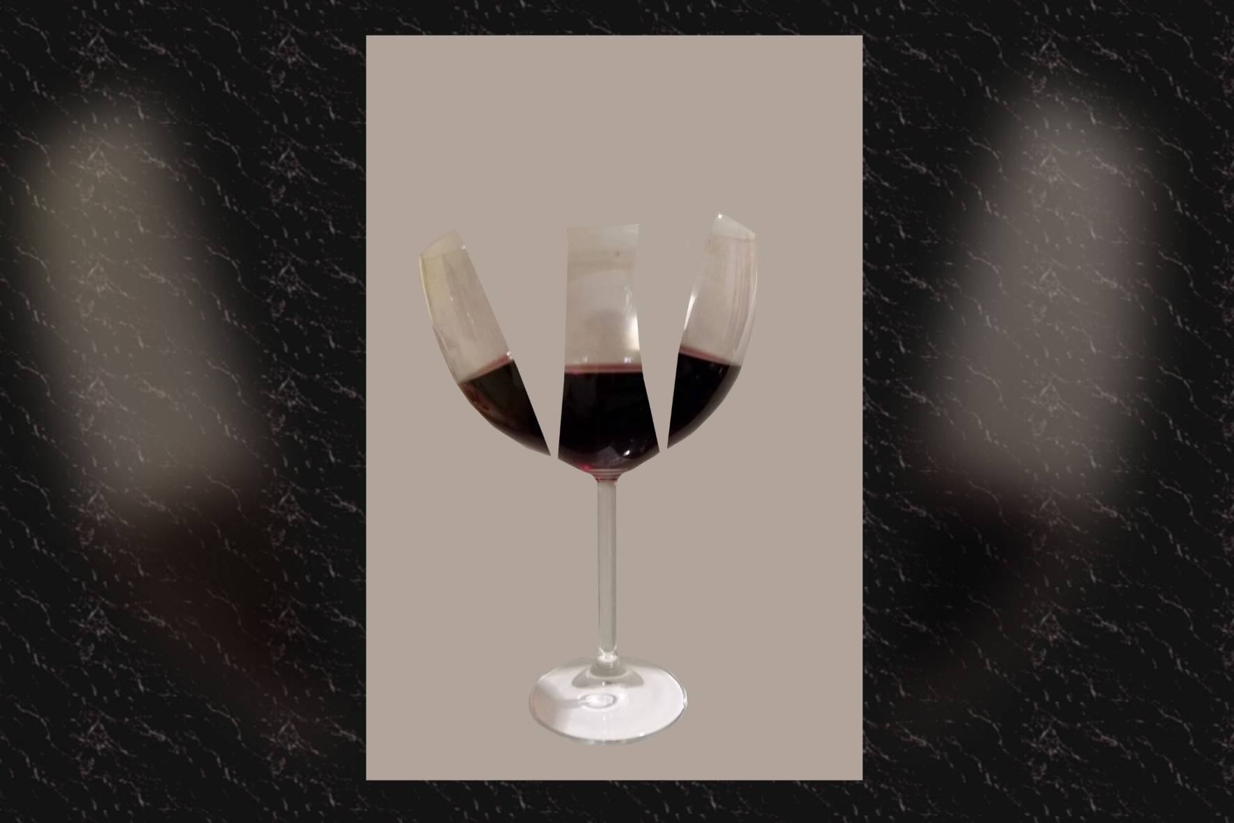 153: I. Lorenz; Triple Wine Glass; Berlin; 2015